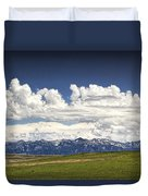 Clouds Over A Mountain Range In Montana Duvet Cover