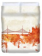 Clouds Over Budapest Hungary Duvet Cover
