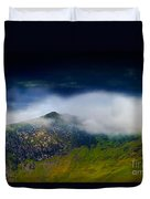 Clouds Over Bull Crag And Maiden Moor Duvet Cover