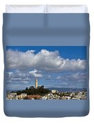 Clouds Over Coit Tower Duvet Cover