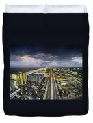 Clouds Over Gulf Shores Duvet Cover