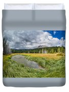Clouds Over Hat Lake Duvet Cover