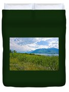 Clouds Over Jackson Lake In Grand Teton National Park-wyoming Duvet Cover
