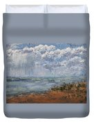 Clouds Over Lake Michigan Duvet Cover