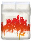 Clouds Over Los Angeles California Duvet Cover