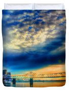 Clouds Over Louisville Duvet Cover