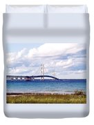 Clouds Over Mackinaw Duvet Cover