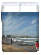 Clouds Over Manly Beach Duvet Cover