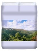 Clouds Over Mountain, Sunset Rock Duvet Cover