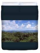 Clouds Over Mountains, Flores Island Duvet Cover