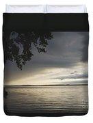 Clouds Over Seneca Lake Duvet Cover