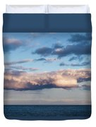Clouds Over The Atlantic Ocean At Dusk Duvet Cover