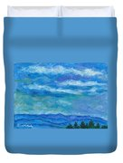 Clouds Over The Blue Ridge Duvet Cover
