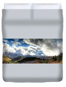Clouds Over The Blue Ridge Mountains Duvet Cover