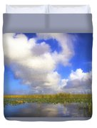 Clouds Over The Grasses Duvet Cover