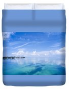 Clouds Over The Ocean, Florida Keys Duvet Cover