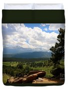 Clouds Over The Rockies Duvet Cover