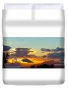 Clouds With Colors Duvet Cover