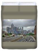 Cloudy Atlanta Capital Of The South Duvet Cover
