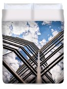 Cloudy Building Duvet Cover
