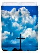 Cloudy Cross Duvet Cover