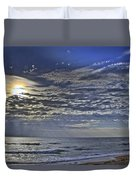 Cloudy Day At The Beach Duvet Cover