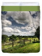 Cloudy Day In The Country Duvet Cover by Kaye Menner