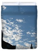 Cloudy In Cleveland Duvet Cover