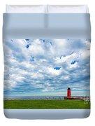 Cloudy Milwaukee Harbor Duvet Cover