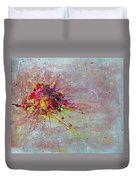 Cloudy Monday Abstract Painting Duvet Cover