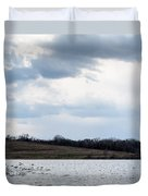 Cloudy Spring Day Duvet Cover