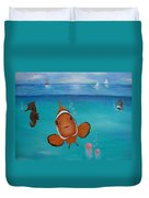 Clown Fish And Friends Duvet Cover