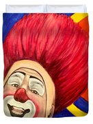 Watercolor Clown #17 Mark Carfora Duvet Cover