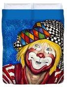 Watercolor Clown #16 Ron Maslanka Duvet Cover
