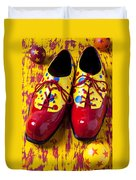 Clown Shoes And Balls Duvet Cover