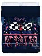 Club Flamingo Duvet Cover