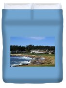 Clubhouse At Pebble Beach Duvet Cover