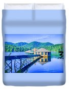 Clubhouse On Lake Tahoma Duvet Cover