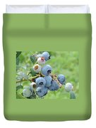 Clump Of Blueberries Duvet Cover