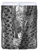 Cluster- Black And White Duvet Cover