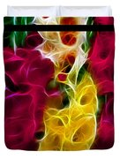 Cluster Of Gladiolas Triptych  Duvet Cover