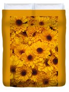 Cluster Of Yellow Blooms Duvet Cover