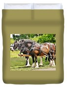 Clydesdale Horses Duvet Cover