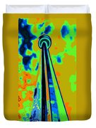 Cn Tower Abstract Duvet Cover