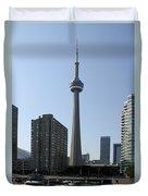 C N Tower Toronto Duvet Cover
