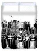 Vancouver Canada Coal Harbour Centre Panel Duvet Cover