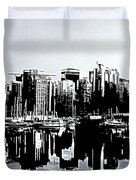 Vancouver  Canada Coal Harbour Triptych Left Panel Duvet Cover