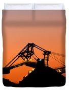 Coal Loader Duvet Cover