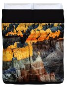 Coal Mine Canyon Aglow Duvet Cover