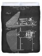 Coal Mining Machine Patent From 1903- Charcoal Duvet Cover